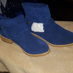 1 day only! Restricted Blue Suede Booties